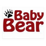 Garra de oso del bebé tarjeta postal