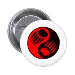 Garra de oso Yin Yang Pin Redondo 5 Cm