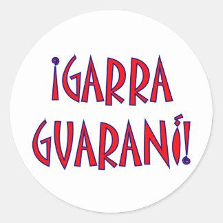GARRA  GUARANÍ ROUND STICKER