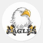 Garra principal de Eagle Etiqueta Redonda