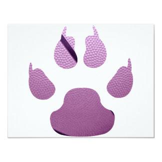 Garra púrpura invitación 10,8 x 13,9 cm
