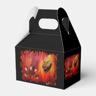 Garra roja del dragón caja para regalos