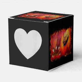 Garra roja del dragón caja para regalos de fiestas