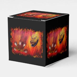 Garra roja del dragón cajas para regalos de boda
