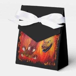 Garra roja del dragón cajas para regalos de fiestas