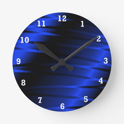 Garras azules reloj redondo mediano