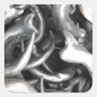 Garras de la bendición pegatinas cuadradases personalizadas
