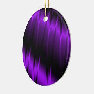 Garras de la lila adorno navideño ovalado de cerámica