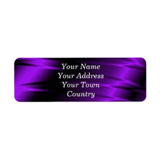 Garras de la lila etiqueta de remitente