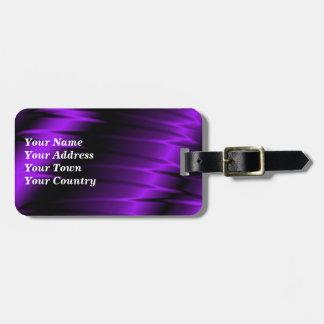 Garras de la lila etiquetas para maletas
