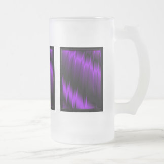 Garras de la lila jarra de cerveza esmerilada