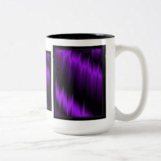 Garras de la lila taza de café de dos colores