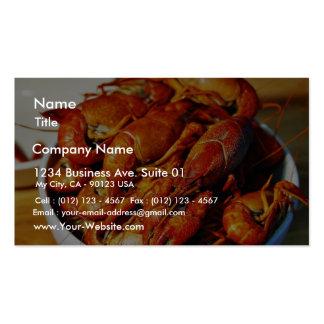 Garras de los cangrejos tarjeta personal