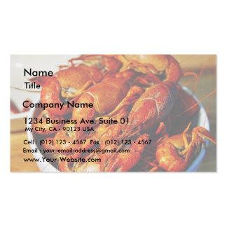 Garras de los cangrejos tarjetas de visita