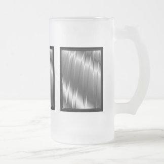 Garras de plata taza de cristal