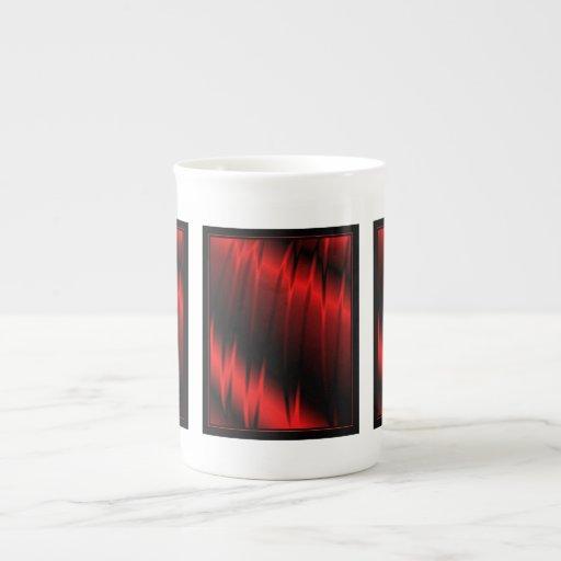Garras rojas taza de porcelana