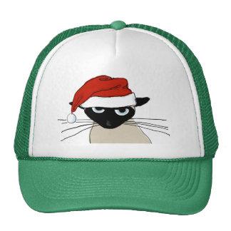 Garras siamesas de Santa - gato divertido del Gorro
