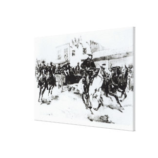 Garret brings in Billy the Kid, 1880 Canvas Print