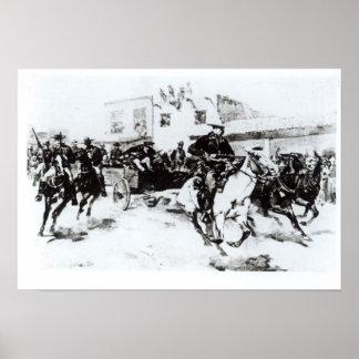Garret brings in Billy the Kid, 1880 Poster