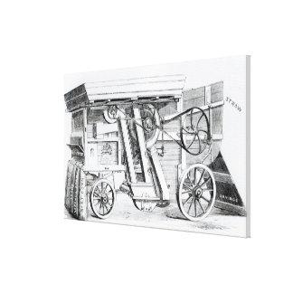 Garrett and Sons Patent Combined Threshing Canvas Print