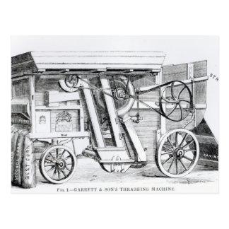 Garrett and Sons Patent Combined Threshing Postcard