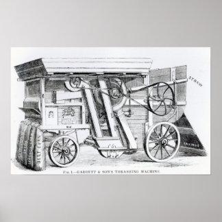 Garrett and Sons Patent Combined Threshing Poster