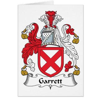 Garrett Family Crest Card