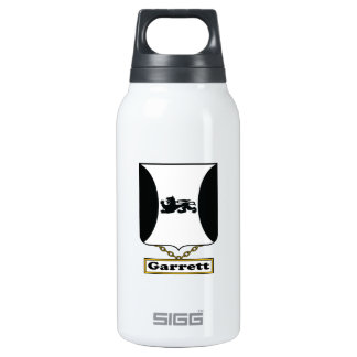 Garrett Family Crest 10 Oz Insulated SIGG Thermos Water Bottle