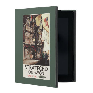Garrick Inn and Harvard House Rail Poster iPad Folio Cases