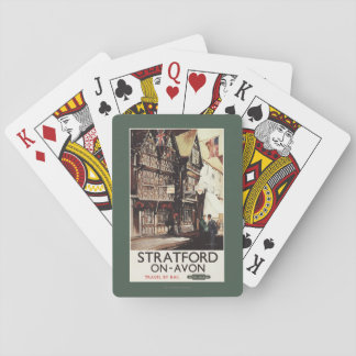 Garrick Inn and Harvard House Rail Poster Playing Cards