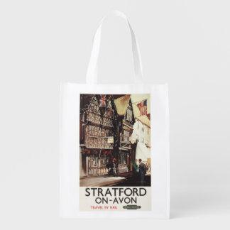 Garrick Inn and Harvard House Rail Poster Reusable Grocery Bag