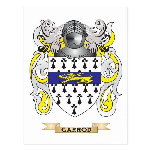 Garrod Coat of Arms (Family Crest) Post Cards