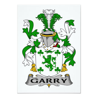 Garry Family Crest 5x7 Paper Invitation Card