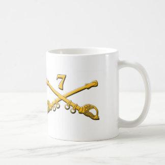 Garry Owen 7th US CAV Classic White Coffee Mug