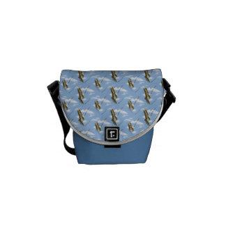Garter Snake Against a Blue Sky - Wallpaper Patter Messenger Bag