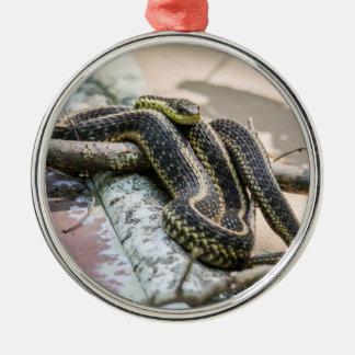 Garter Snake Metal Ornament