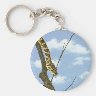 Garter Snake on a Limb against a Blue Sky Keychains