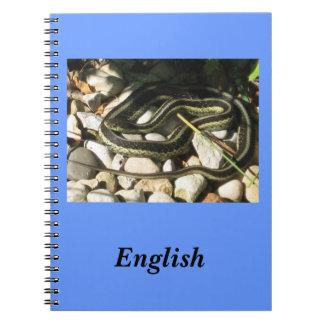 Garter Snake on Rocks School Subject Notebook