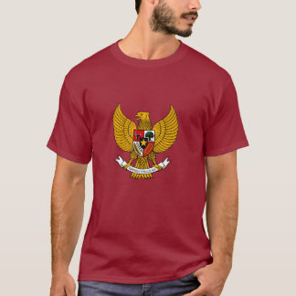 garuda pancasila shirt - maroon