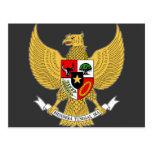 Garuda Pancasila, t Arms Indonesia, Indonesia Post Cards