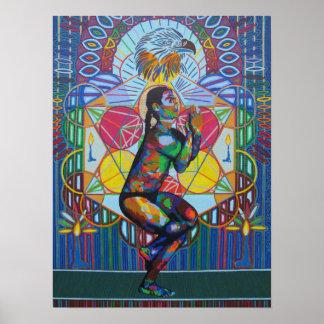 Garudasana - 2011 as canvas/poster poster