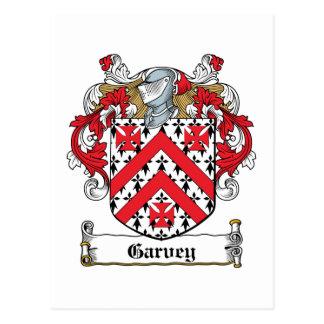 Garvey Family Crest Postcard