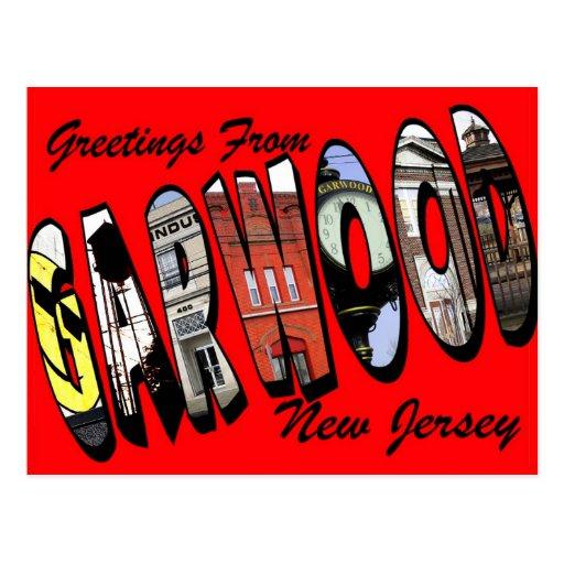 Garwood, postal del vintage de New Jersey