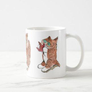 Gary Captured a Red Maple Leaf Coffee Mug