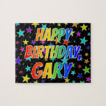 "[ Thumbnail: ""Gary"" First Name, Fun ""Happy Birthday"" Jigsaw Puzzle ]"