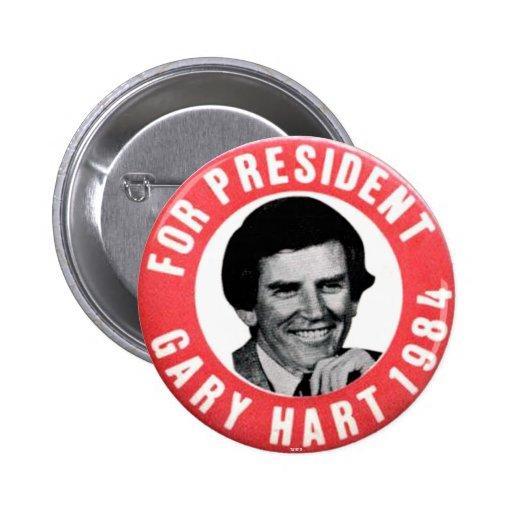 Gary Hart - botón Pins