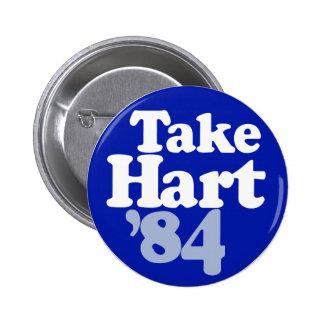 Gary Hart - Take Hart '84 Button