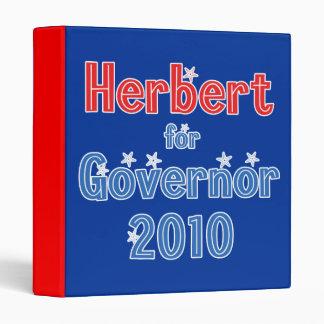 Gary Herbert for Governor 2010 Star Design 3 Ring Binder