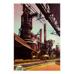 Gary, Indiana Blast Furnace 1930 Posters