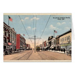 Gary, Indiana Broadway looking south Greeting Cards